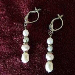 ANTIQUE real pearl earrings